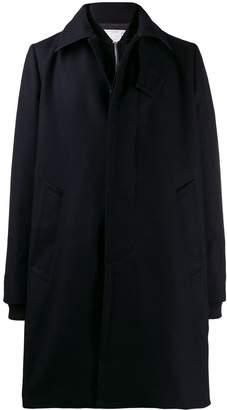 Sacai layered single breasted coat