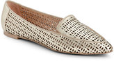 Franco Sarto Gold Soho Laser-Cut Flat Loafers