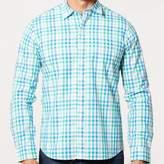 Blade + Blue Green, Aqua Blue & White Check Shirt - Gianni