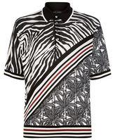Dolce & Gabbana Zebra Print Polo Shirt