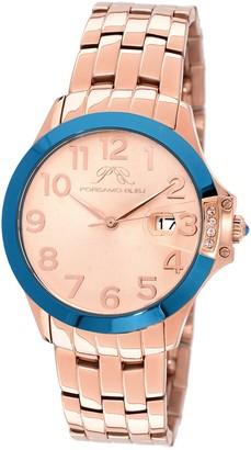 Porsamo Bleu Women's Olivia Swarovski Crystal Accented Quartz Watch, 40mm