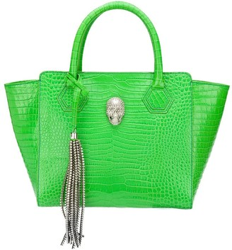 Philipp Plein Crocodile Embossed Tote Bag