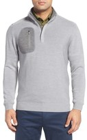 Bobby Jones Men's 'Elements' Merino Wool Quarter Zip Pullover
