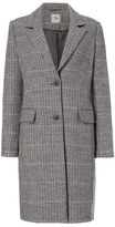 Tu clothing Multi Coloured Checked Tweed Pattern Coat