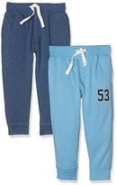 Mothercare Baby Boys' Blue-2 Pack Track Bottoms