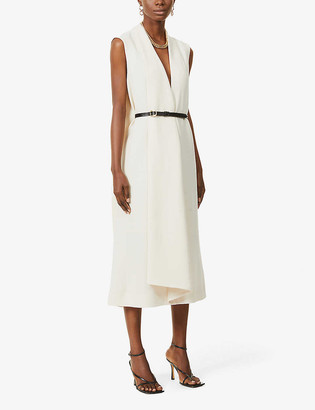 Petar Petrov Alen sleeveless wool midi dress