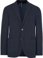 Incotex - Midnight-blue Chinolino Unstructured Slub Linen And Cotton-blend Blazer