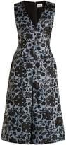 Erdem Kamila floral-jacquard midi dress
