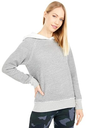 Hard Tail Parker Pullover Hoodie (Heather Gray) Women's Clothing