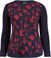 Ralph Lauren Georgette-Front Sweatshirt