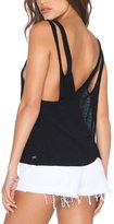 Moonpin Women Casual Back Cross Loose Backless Sport Yoga Vest T-shirt Top L