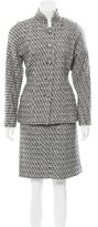 Chanel Patterned Knee-Length Skirt Suit