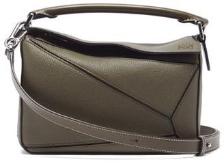 Loewe Puzzle Small Leather Cross-body Bag - Khaki