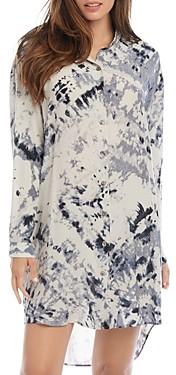 Karen Kane Printed High/Low Shirt Dress