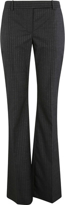 Alexander McQueen Flared Cuffs Striped Trousers