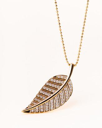 Vivrelle Diamond Leaf Necklace