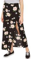 Topshop Split Floral Print Maxi Skirt