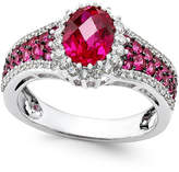 Macy's Certified Ruby (2-1/2 ct. t.w.) and Diamond (3/8 ct. t.w.) Ring in 14k White Gold