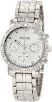 August Steiner Women's ASA841SS Swiss Quartz Multifunction Crystal Watch