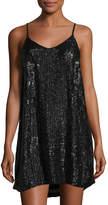 MLV Rectangle-Beaded Shift Dress, Black