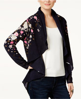 INC International Concepts Petite Printed Open-Front Cardigan, Only At Macy's