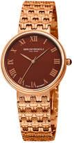 Bruno Magli 36mm Isabella Bracelet Watch, Brown/Rose