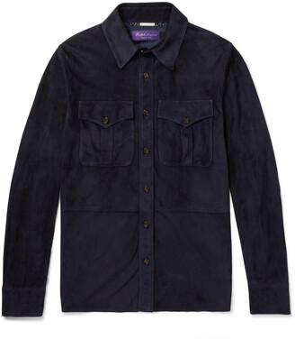 Ralph Lauren Purple Label Barron Suede Shirt Jacket