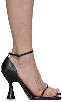 Dorateymur Black Strappy Heeled Sandals