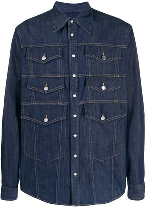 DSQUARED2 Multiple Patch Pocket Denim Shirts
