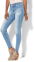 New York & Co. Soho Jeans - Frayed High-Waist Superstretch Legging - Unstoppable Blue Wash
