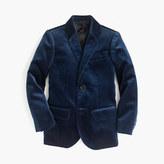 J.Crew Kids' Ludlow blazer in velvet