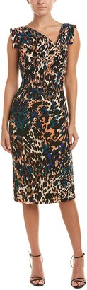 Black Halo Women's Animal Print Jackie O Dress