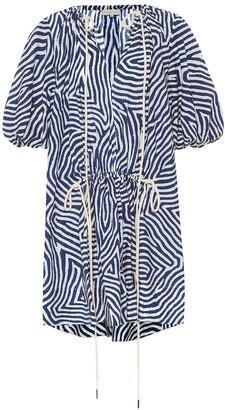 Lee Mathews Exclusive to Mytheresa Ada printed cotton minidress