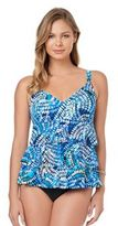 Croft & Barrow Women's Tummy Slimmer Tiered Swimdress