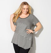 Avenue Mixed Stripe Asymmetrical Top