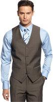 Alfani Light Brown Twill Slim-Fit Vest