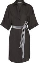 Maje Belted Twill Shirt Dress - One size