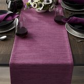 "Crate & Barrel Grasscloth 90"" Violet Purple Table Runner"