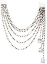 Chanel CC Mirrored Multistrand Collar Clips