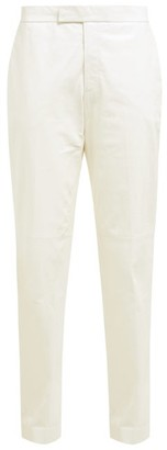 Helmut Lang Mid-rise Leather Trousers - Womens - White
