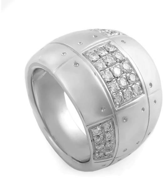 Salvini 18K White Gold & 0.60ct. Diamond Band Ring Size 6.5