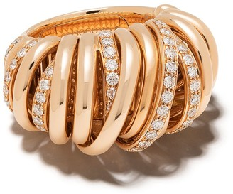 de Grisogono 18kt Rose Gold Coil Diamond Ring