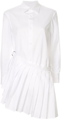 Yohji Yamamoto Pleated Detail Button-Up Shirt