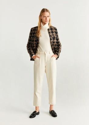 MANGO Houndstooth jacket brown - XS - Women