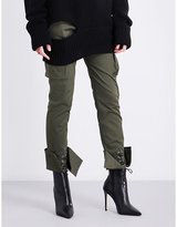 Monse Turned-cuff straight mid-rise cotton-blend cargo trousers