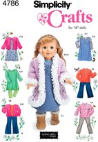 Simplicity Sewing Pattern 4786 Doll Clothes, One