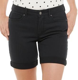 Croft & Barrow Women's Cuffed Jean Shorts