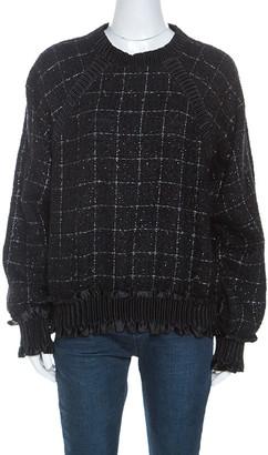 Chanel Black Checked Fantasy Tweed Sweater M