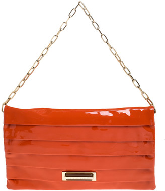 Anya Hindmarch Orange Patent Leather Shoulder Bag
