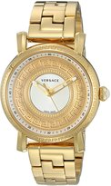 Versace Women's 'Day Glam' Quartz Stainless Steel Casual Watch, Color:Gold-Toned (Model: VQ9070014)